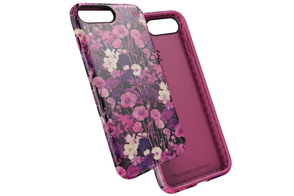 coque fleurs violettes